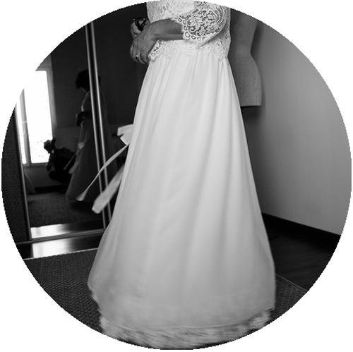 dentelle sur robe de mariée personnalisée - couture à domicile